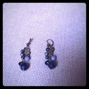 Jewelry - 💥 INC Blue beaded dangle earrings